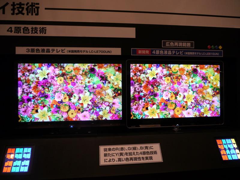 【詳報】シャープ、4原色パネル採用の3D液晶テレビを今夏発売